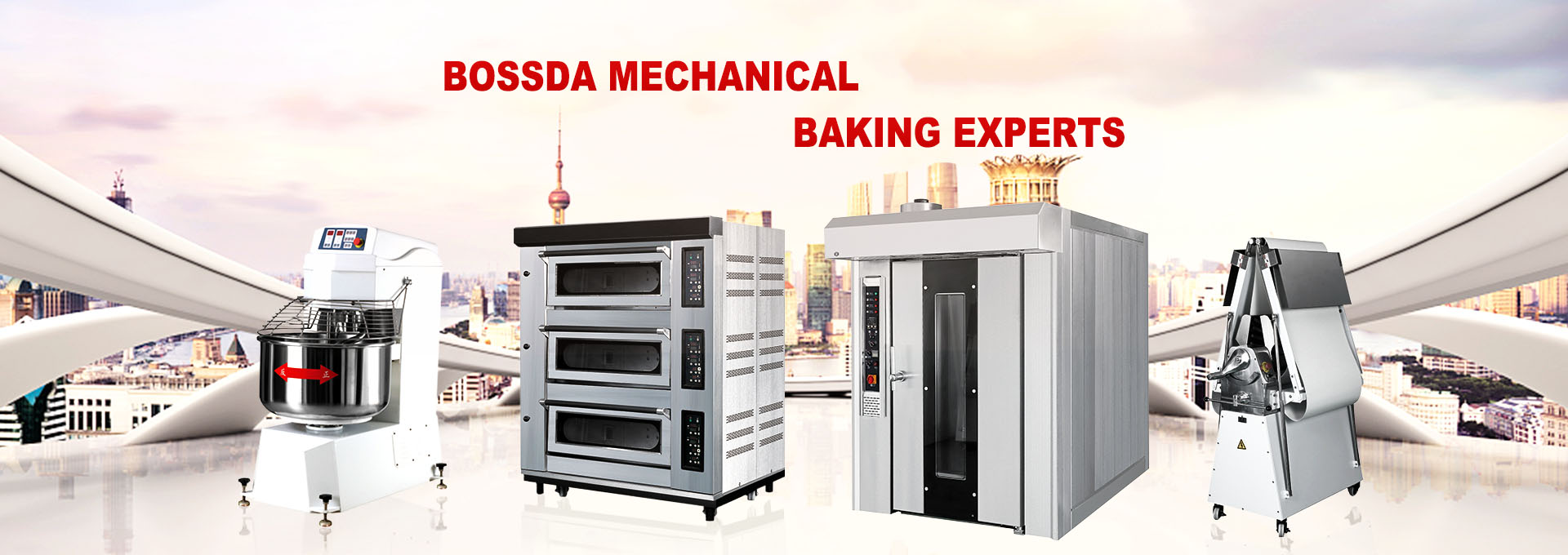China cake production line, bakery equipment, rack oven