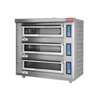 BDR-90H Large Infrared Gas Tripple Deck Oven